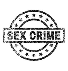 Grunge textured sex crime stamp seal vector