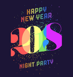 happy new year 2018 vector image