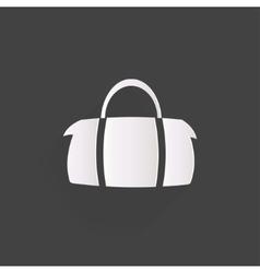 Hipster modern bag icon vector