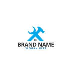 house construction logo design template vector image