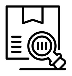 Inspect box icon outline style vector