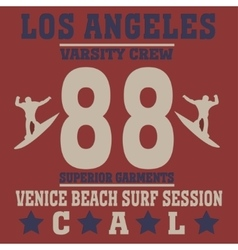 Los angeles california surf vector