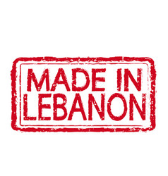 made in lebanon stamp text vector image