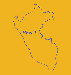 Map of peru with all main tourist attraction vector