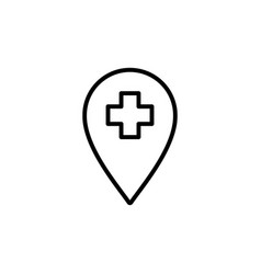 Medical help position icon black on white vector