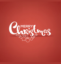 merry christmas lettering greeting composition vector image