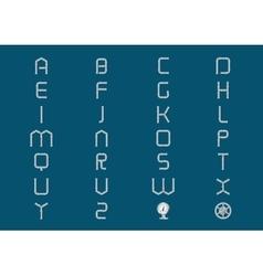 Metal pipe alphabet vector