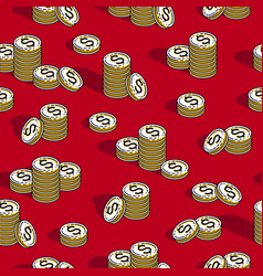 money coins seamless background backdrop for vector image