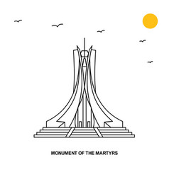 Monument of the martyrs monument world travel vector