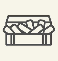 nuggets line icon chicken in box vector image