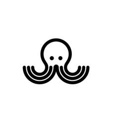 Octopus simple logo design inspiration vector