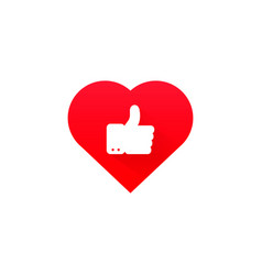 ok good heart health icon vector image