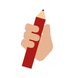 Pencil hand hold icon graphic vector