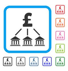 pound bank organization framed icon vector image