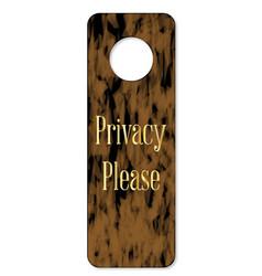 privacy please door knob sign vector image