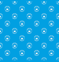 quality bags pattern seamless blue vector image