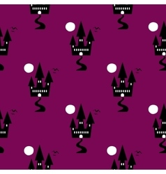 Seamless Pattern Halloween Ghost vector image