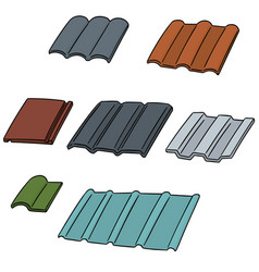 set of roof tile vector image