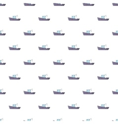 Ship for catching fish pattern cartoon style vector