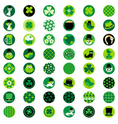 st patricks day one inch circles vector image