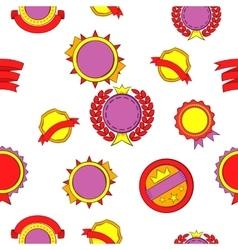 Sticker pattern cartoon style vector