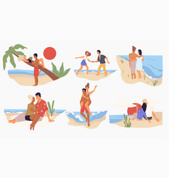 summer vacations or weekends seaside beach vector image