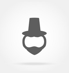 template face leprechaun on st patrick s day vector image vector image