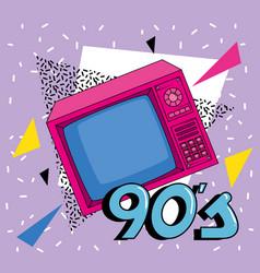 Tv nineties retro style isolated icon vector