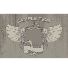 vintage emblem on grunge background vector image