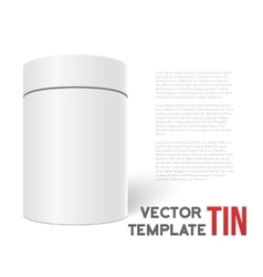 White 3D Tea Box Cylinder Isolated on White vector image