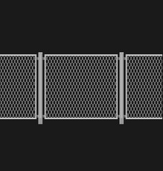 wired chain link fence vector image