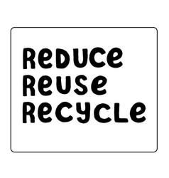 Zero waste simple design poster reduce reuse vector