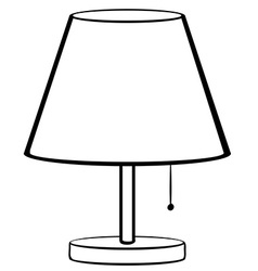 Bed lamp vector image vector image