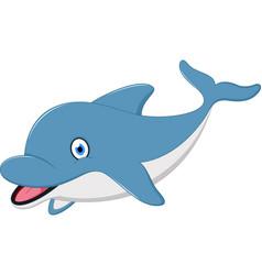 cute dolphin cartoon vector image