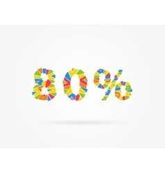 Discount 80 percent vector image