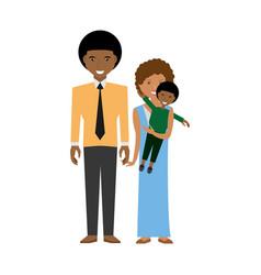 happy afroamerican family love members vector image vector image