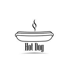 hot dog icon on white background fast food vector image