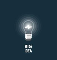 light bulb big idea vector image