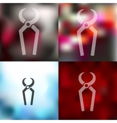 nippers icon on blurred background vector image vector image