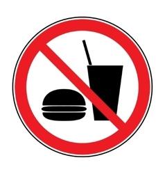 No food and drink vector