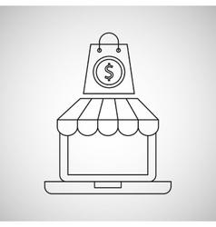 shopping digital internet bag gift icon vector image vector image