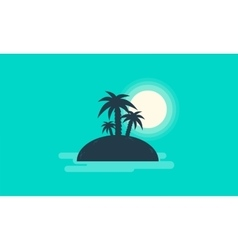Silhouette of small islands landscape vector image vector image