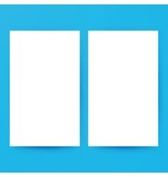 Two Empty Brochure Mockup vector image