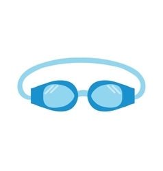 Pool goggles swimming equipment isolated vector image