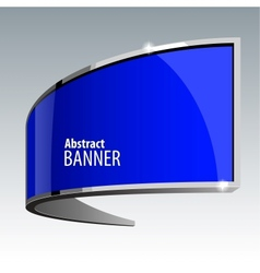Shiny gloss blue banner eps 10 vector image vector image