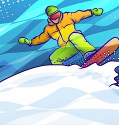Snowboard Jump vector image vector image