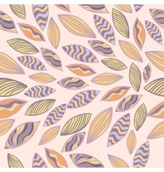 Colored seamless pattern with leaves vector image vector image