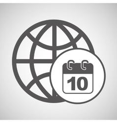 global digital calendar network design vector image vector image