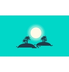 Silhouette of two islands scenery vector image vector image