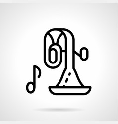 orchestra instrument simple line icon vector image